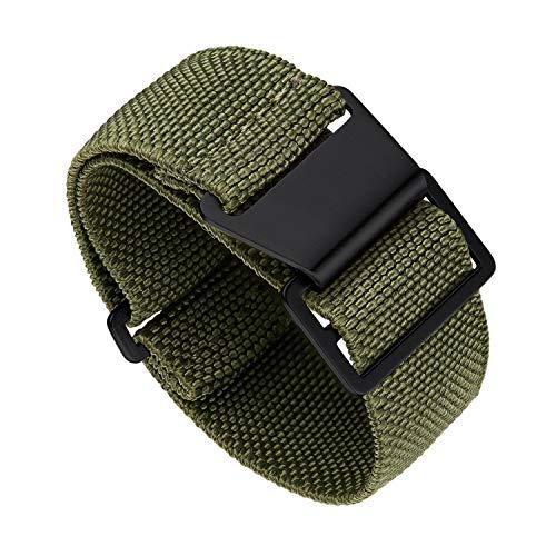 Binlun Elastic NATO Fabric Nylon Uhrenarmband Wasserdichtes Ersatz-Klettarmband 18/20/22mm