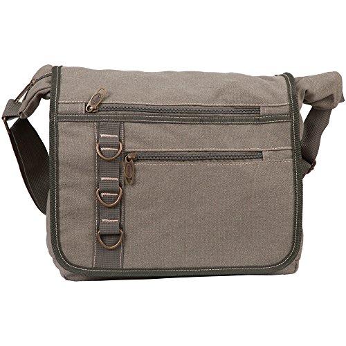 Michael Heinen Messenger Bag | Schultertasche für Freizeit, Studium & Business | Umhänge-Tasche für Damen & Herren | Canvas | Praktische Größe für Bücher, Portemonaie, Handy & Co.