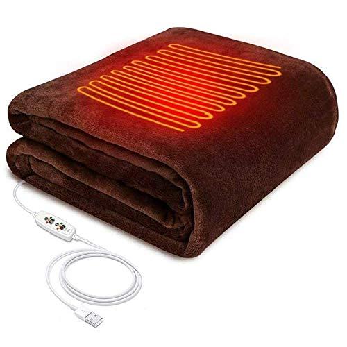 GAOZHEN Manta calefactora eléctrica Inteligente calentada por USB con 3 configuraciones de...
