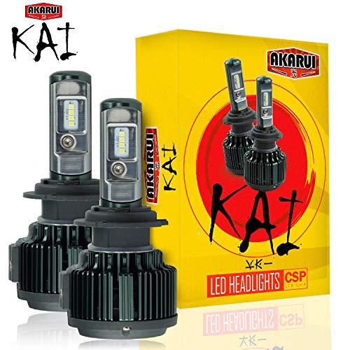 KAI AKARUI LED Headlight Bulbs Conversion Kit - Single Beam - CSP LED Chip - 7000 lumens - 6K Cool...
