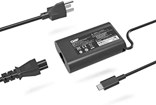 QYD USB-C Charger 45W Type-C PD Adapter Replacement for Laptop Dell XPS 13 9365 9370 9380,Latitude 7275 7370 5175 5285 5290-2in1 7390-2in1 P82G001 LA45NM150 HA45NM150 0HDCY5 Power Supply Cord