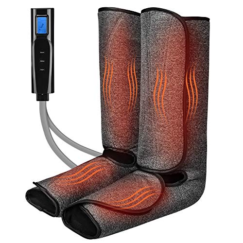 Foot and Leg Massager with Heat for Circulation and Relaxation Foot and Calf Massager with Handheld Controller 3 Intensities 2 Modes