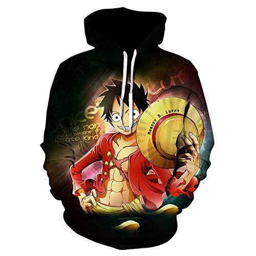 XIAOHU Sweatshirt 3D Hoodie 3D-Druck Pullover Sweatshirt D Ruffy Ace Battle Trainingsanzug Outfit Hoodies Oberbekleidung
