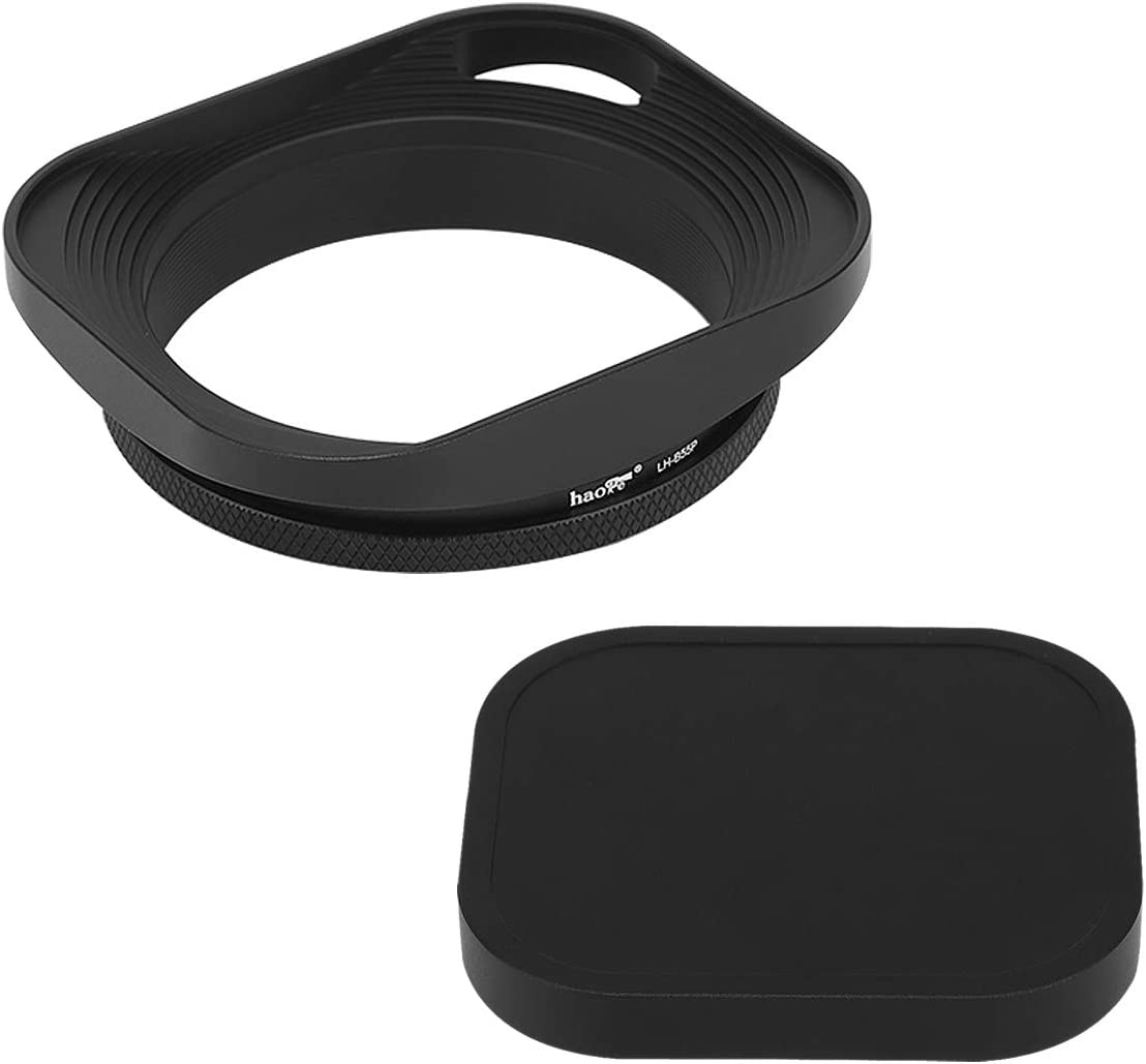 New arrival Haoge LH-B55P 55mm Square Metal Now free shipping Screw-in Lens with Hood O Hollow