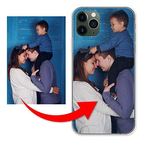 KX-Mobile Personalisierte Hülle für iPhone 11 Handyhülle aus Silikon/TPU mit deinem eigenen Motiv - Dein eigenes Bild Selfie Design Foto