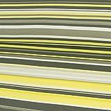 Viskosejersey Streifen hellgelb grau Modestoffe - Preis