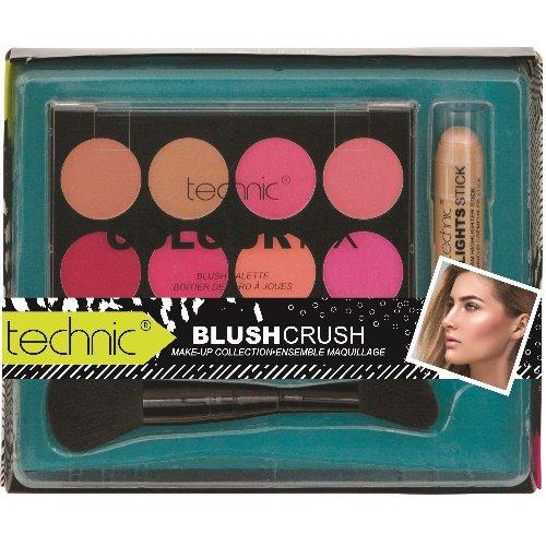 TECHNIC Colour Fix Blush Poudre Palette de blush et pinceau High Lighting Clé + (89