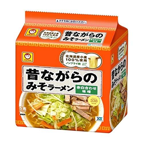 マルちゃん 昔ながらのみそラーメン 赤白合わせ味噌 (5食入)