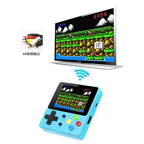 KINJOHI Handheld Spielkonsole, Tragbares Videospiel 2,4-Zoll-HD-Bildschirm 188 Classic Games 8-Bit-System, Retro-Spielekonsole kann im Fernsehen Spielen, Kinder und Erwachsene
