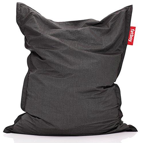 Fatboy® Original Outdoor Charcoal Acryl-Gewebe Sitzsack | Klassischer Beanbag für draußen, Sitzkissen | 180 x 140 cm