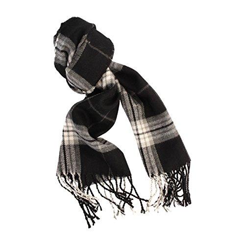 Gio Tetelli Zachte sjaal met franjeshalsdoek, 33 x 160 cm