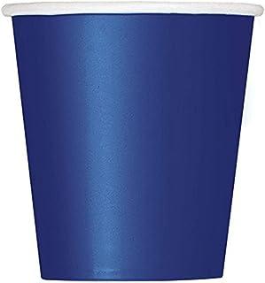 أكواب ورقية باللون الأزرق الداكن، بوزن 266 جم، 14 قطعة