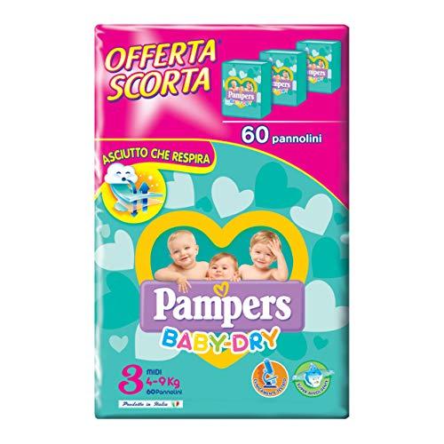 Pampers Baby Dry Midi Größe 3 4-9 kg 60 Windeln