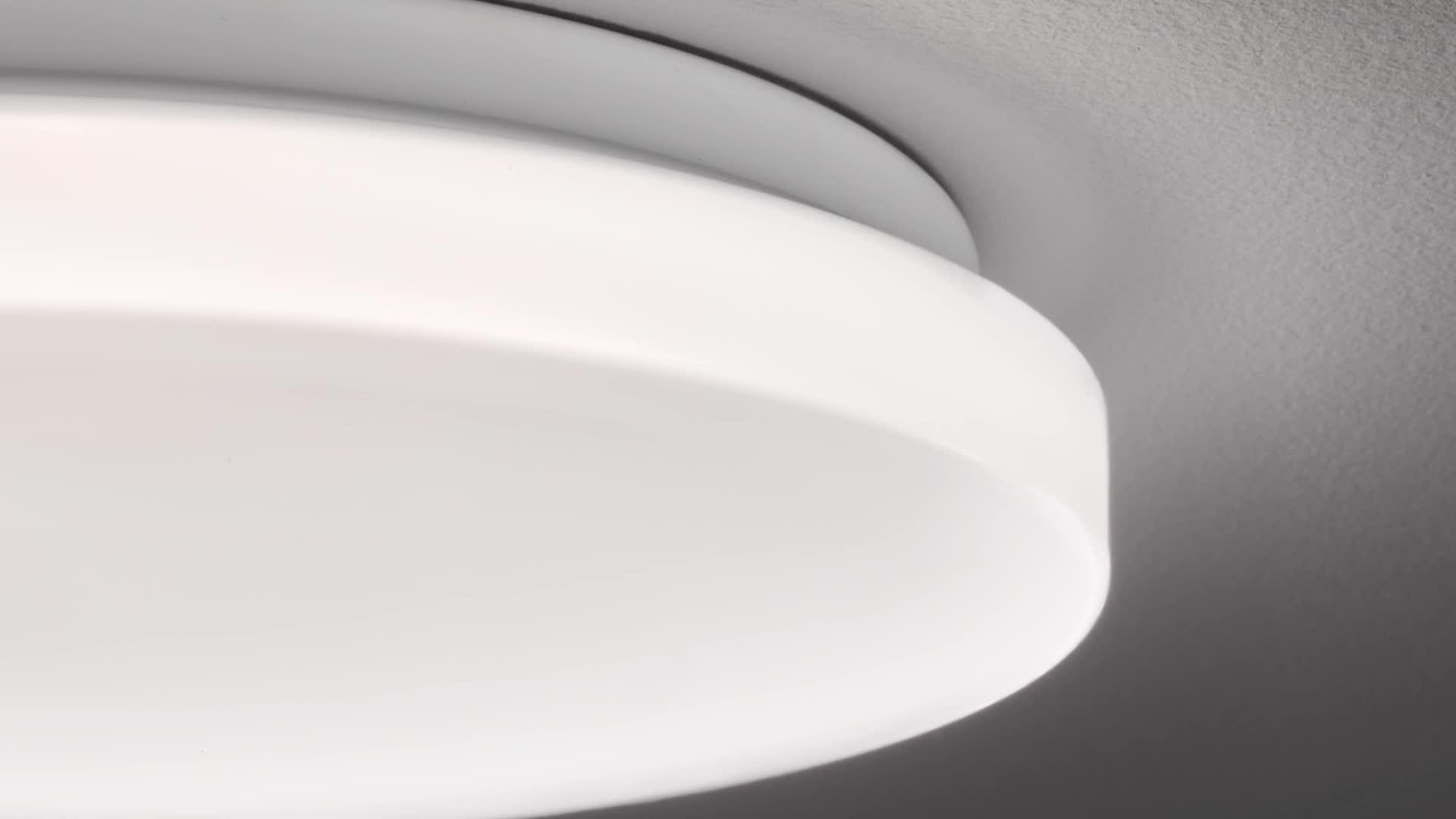 Eglo Deckenlampe Pogliola Ø 26 Cm 1 Flammige Wandlampe Led Deckenleuchte Aus Stahl Und Kunststoff In Weiß Wohnzimmerlampe Küchenlampe Bürolampe Flurlampe Decke Beleuchtung