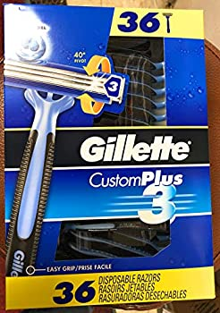 Gillette CustomPlus 3 Disposable Razors 36ct