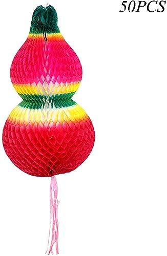 JXS-mariage Boule de nid d'abeille, lanternes de Papier Couleurées, utilisées pour la décoration de fête d'anniversaire de Mariage 9.8In 50Pcs