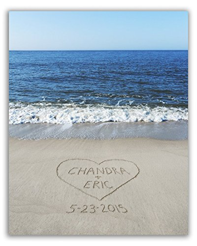 Beach Romance Personalized Print
