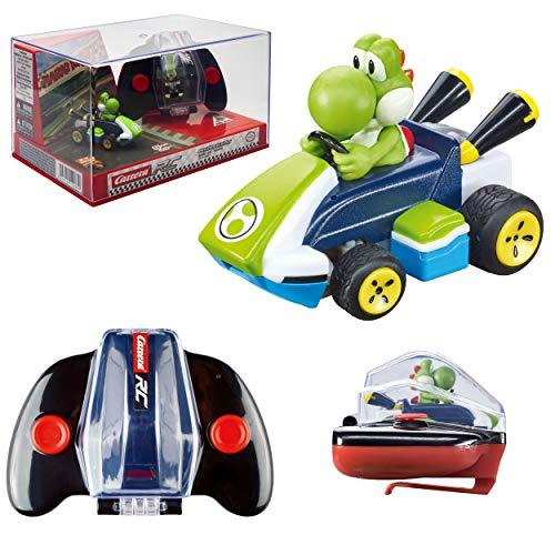 Carrera RC Nintendo Mario Kart 2.4 GHz Mini Collectible Radio Remote Control Toy Car Vehicle - Yoshi
