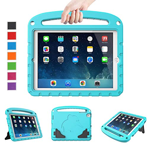 LTROP Kids Case for iPad Mini 1 2 3 4 5 - Light Weight Shock Proof Handle Friendly Convertible Stand Kids Case for iPad Mini, Mini 5 (2019), Mini 4, iPad Mini 3rd Generation, Mini 2 Tablet - Turquoise