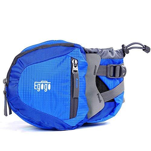 egogo Travel Sport Waist Pack Fanny Pack Bum Bag Hiking Bag with Water Bottle Holder S2209 (Blue)