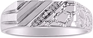 mens diamond pinky ring for sale