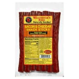 Wisconsin's Best Bacon and Wisconsin Cheddar Cheese Protein Snack Meat Sticks, 7, 1 oz