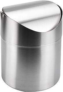 Teakpeak Mini poubelle de bureau 2,5 l /Étanche En cuir synth/étique Petite taille