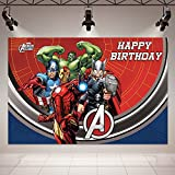 Ma_rvel Ave_ngers Background Birthday Party Supplies Backdrop 5x3ft Superhero Theme Background Photography for Kids Birthday Banner Boys Birthday Party Decorations Banner Photo Booth Props