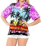LA LEELA Suaves de la Vendimia del florete Bebe Casual Camisa Hawaiana Mujeres Likre Halloween...