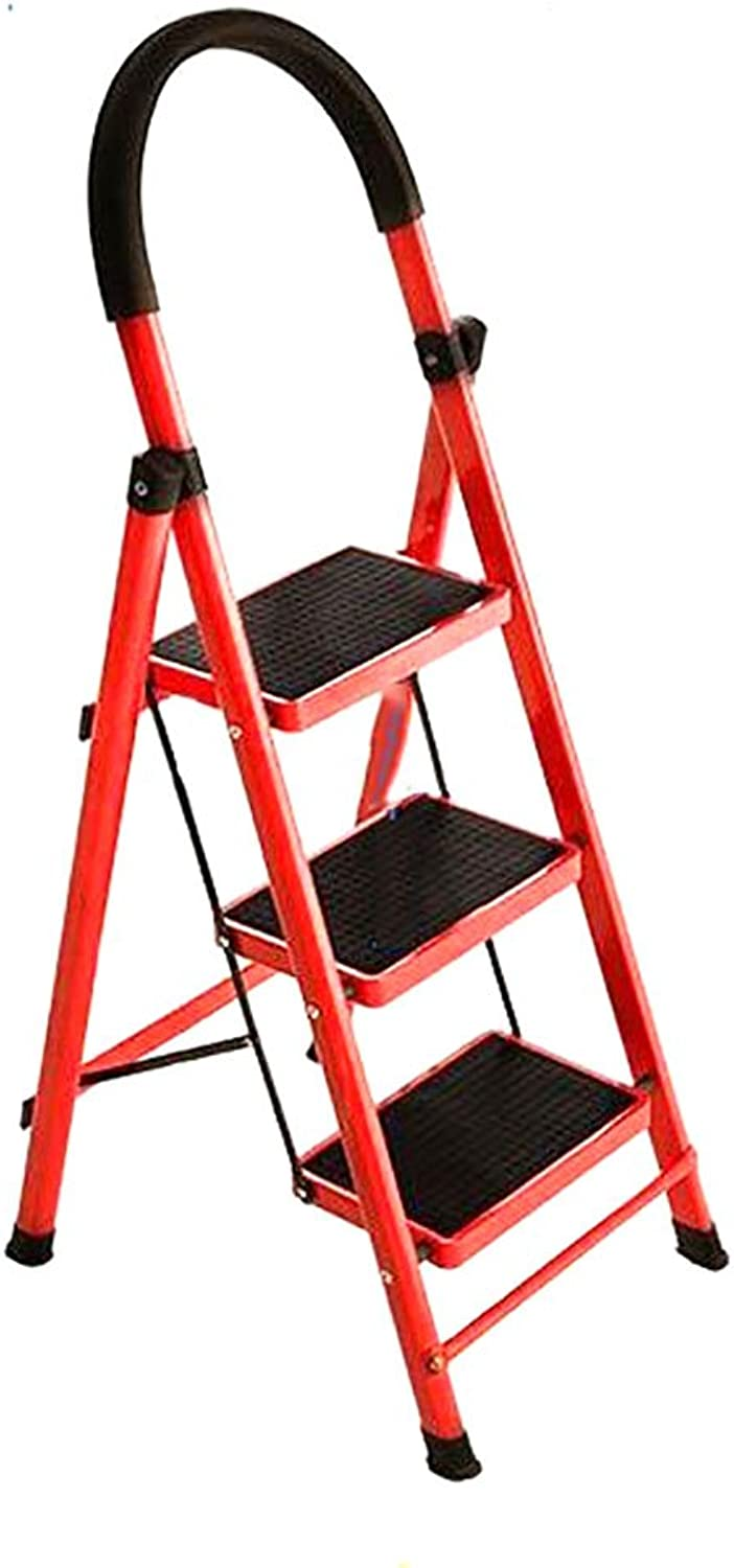 DQMSB Household Folding Ladder Handrail Handrail Thick Indoor Ladder Moving Staircase Extension Ladder Multifunctional Escalator Step Stool