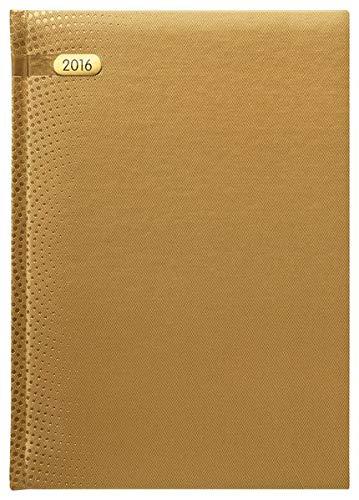 Buchkalender Paris gold 2016 - 368 Seiten - 1 Tag 1 Seite - Blue Line Agenda - Bürokalender / Buchkalender A5