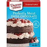Twelve 15.25 oz boxes of Duncan Hines Signature Perfectly Moist Swiss Chocolate Cake Mix Contains cocoa for a rich, velvety flavored layer cake Use for chocolate cake pops, Swiss rolls or chocolate cupcakes for everyday and special occasions Boxed ca...