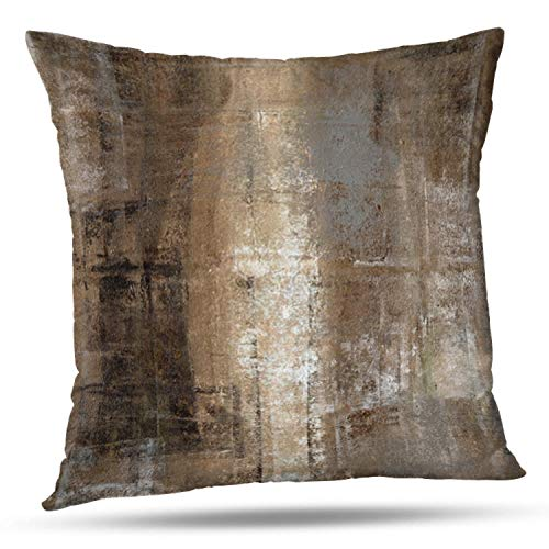 ONELZ Brown Throw Pillows and Grey Throw Pillows Decorative Pillow Covers  for Couch Two Sides Printed, Fashion Style Zippered Cushion 10 X 10 Pillow