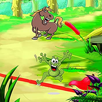 Jamaica fairy tale-race of toad  and donkey