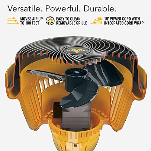 Vornado 293 Large Heavy Duty Air Circulator Shop Fan, Yellow, 16 In.
