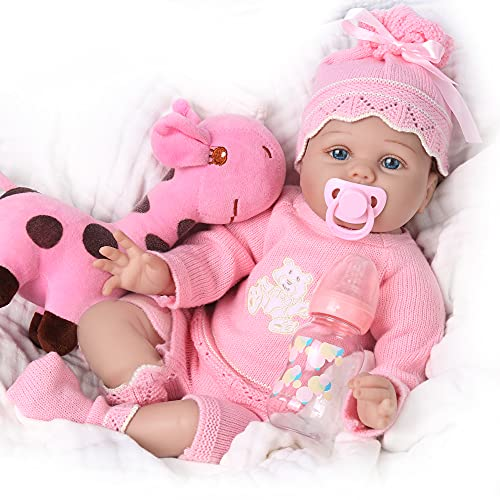 CHAREX Lifelike Reborn Baby Dolls : 22 Inch Realistic Newborn Baby Dolls That Look Real Soft Silicone Baby Dolls Girl Weighted Rebirth Toddler Dolls