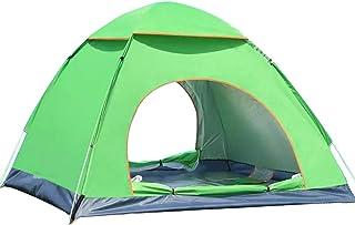 Campingtält enkel inställning 3-4 personer direkt upp campingtält vattentät dubbeldörr utomhus automatisk tält vandring so...