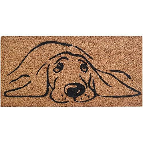 Bestlivings Felpudo de coco (25 x 50 cm, parte inferior de PVC), diseño de perro