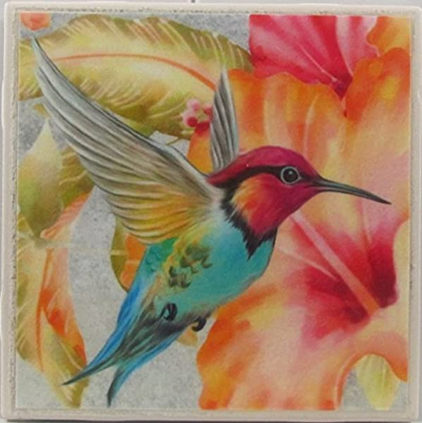 Ceramic Tile Coasters Hummingbirds Set Of 4 Custom Made To Order Check Out More Designs By Typing In Made Perfect Coaster Company We Carry Personalized Stone Monogram Coasters