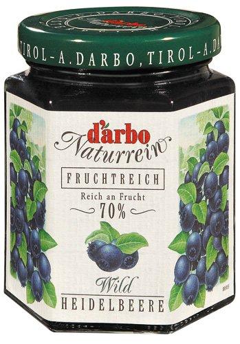 180-056 ダルボ ダブルフルーツ チロリアン ブルーベリー ジャム 200g×12