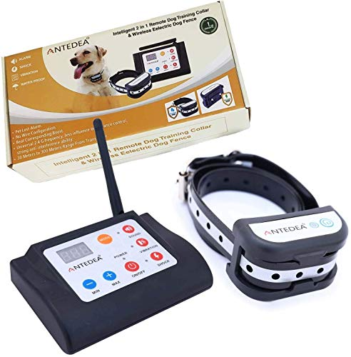 ANTEDEA Electric Wireless Fence for Dogs