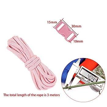 ManLee Lot de 28 4mm Paracorde pour Parachute Bracelet Multicolore Bracelets de Survie 14 Corde Paracorde 550 3 Mètres Multifonction avec 14 Boucles Réglables en Plastique pour Camping - 14 Couleurs