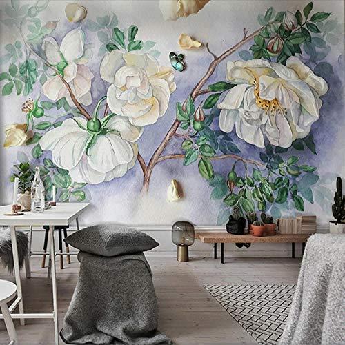 SUNNYBZ 3D Decorativos Murales Arte Pintado A Mano Pintura Al Óleo Mariposa Flor. 250X175 Cm Calcomanías Creativo Pegatina De Pared Adhesivos Pared Efecto Pared Rota, Para Infantiles Habitació