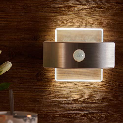 LED Luz Nocturna de Inducción, USB Recargable Lámpara de Noche...