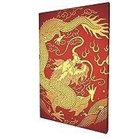 アートフレーム ポスター 壁 落書き A3 美しい古代中国のドラゴン画像 アートパネル アート モダン 壁掛けアート アートボード インテリア 絵 絵画 部屋飾り 壁掛け 玄関 木枠セット 30X45CM