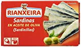 Rianxeira, Conserva de Sardina, Sardinilla en Aceite de Oliva - 12 latas de 81 gr. (Total: 972 gr.)