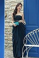 Aライン カクテルドレス カラー ドレス フォーマル パーティードレス マーメイド ミディアム ウェディング ドレス レディース aruka_duranta2 FREE パープル