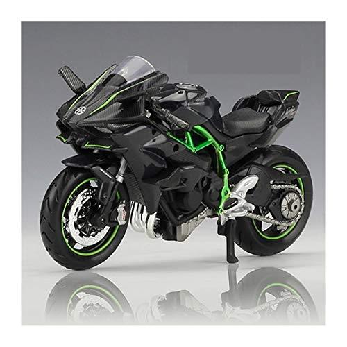DSWS Motocicleta Miniatura 1:18 para Kawasaki Ninja H2 R Motocicleta Maisto Modelo De Aleación De Fundición A Presión Juguete Negro Ninja Decoración De Colección Desmontable