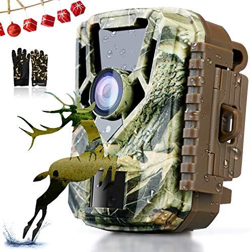 COLORWAY Jagd-Kamera, 16 MP, 1080P, HD, PIR-Sensor, wasserdicht IP65, Nachtsicht mit Infrarot-Sensor, 22 LEDs, für Tierbeobachtung, 2-Zoll-LCD-Display, Camouflage