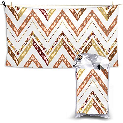 NR Beach fitness lounge stoel grote handdoek Abstract Zigzag Patroon Voor Cover Ontwerp Snelle droge handdoek 28,7 x 51 Inch